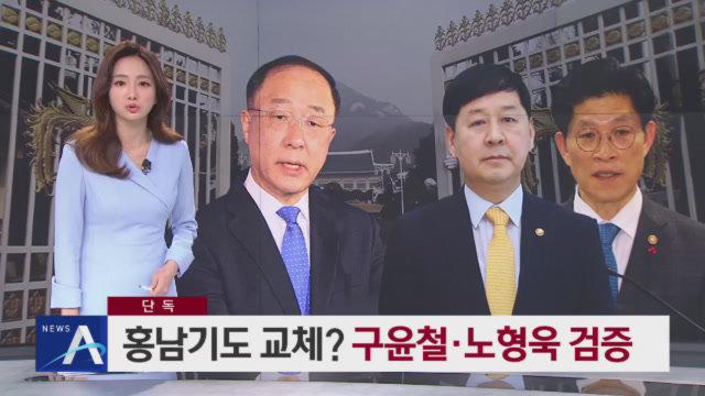 [단독]文, 홍남기 교체 검토…후임 구윤철·노형욱 검증