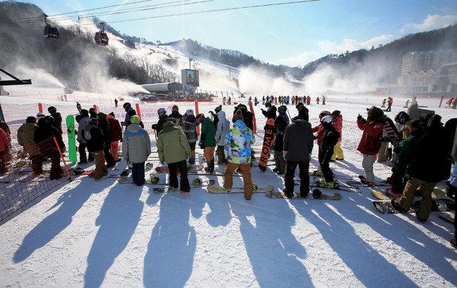 스키 타기 좋은 눈