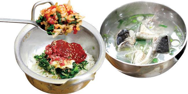 육회비빔밥, 복국 찍고 짜장면…