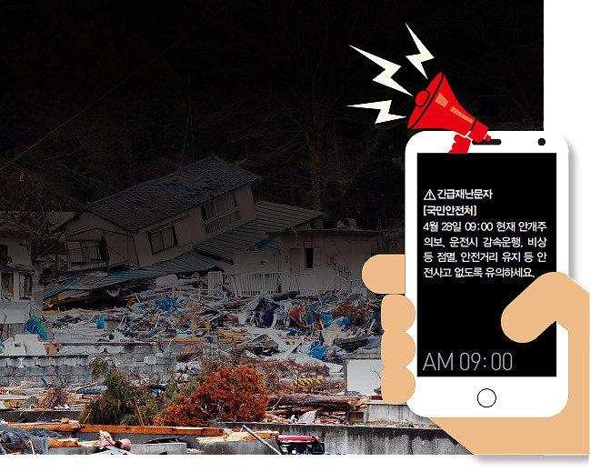 지진은 긴급 상황 아냐, 구멍 뚫린 재난문자