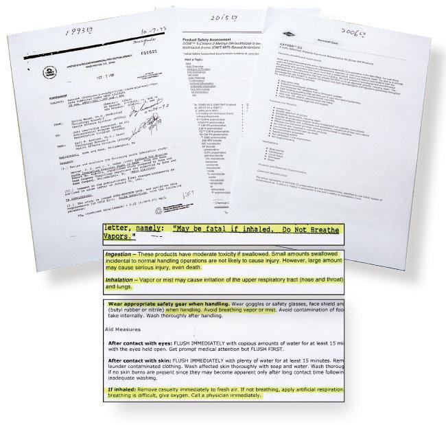 단독 입수 | 美 환경청과 제조사의 살균제(CMIT/MIT) 독성 경고 문건
