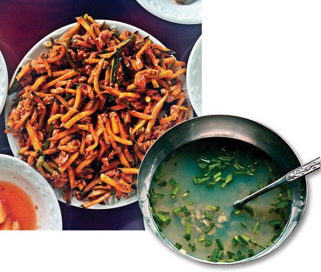 은어밥에 재첩회, 참게탕도 한 그릇