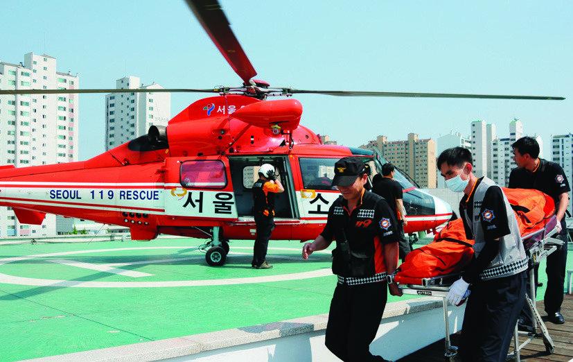 의료용 응급 헬기는 왜 중랑천변에 내리나
