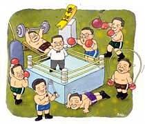 """민주당 7龍 """"가자! 대권 앞으로"""""""