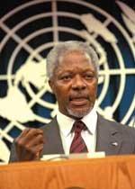 2001 노벨평화상 수상자 코피 아난 유엔 사무총장