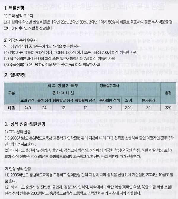 충북 외국어 교육의 메카 … 전국 명문으로 급부상 중