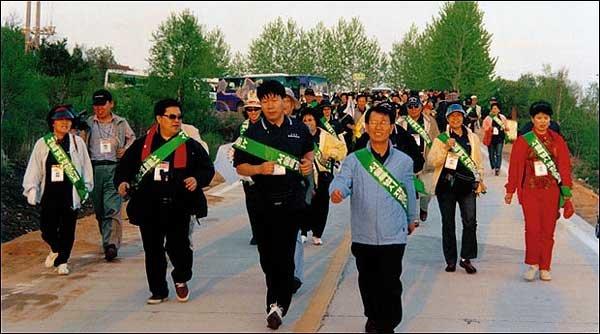 남북 평화 기원 '간절한 레이스'