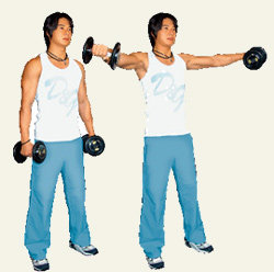 가슴 넓게 하려면 어깨를 공략하라!