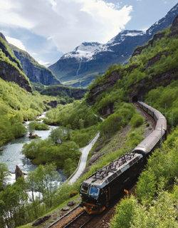 노르웨이 플롬 빙하가 빚은 피요르드 협곡