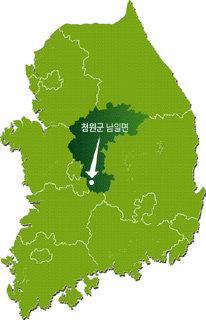 한국 인구의 중심 청원군 남일면