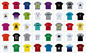 깃발처럼 휘날리는  봄날의 티셔츠들