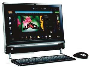 손가락으로 즐기는 PC HP '터치스마트 PC300'