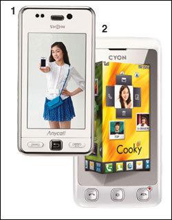 톡! 톡! … 풀터치 휴대전화가 대세