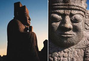 무지개가 잡아준 왕릉터 우상좌하, 우왕좌비 배치(왕은 오른쪽, 왕비는 왼쪽)