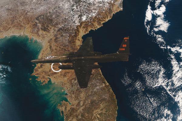 손금 보듯 평양 감시'U-2'機는 비행 중