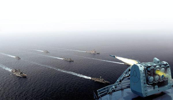 중국 해군 동중국해 무력시위 왜?