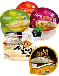 즉석밥>>> 2분에 뚝딱 밥맛보다는 가격