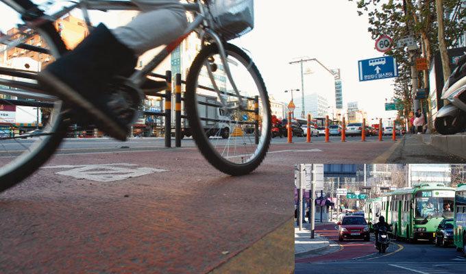자전거도로 타려면 목숨 걸어라?