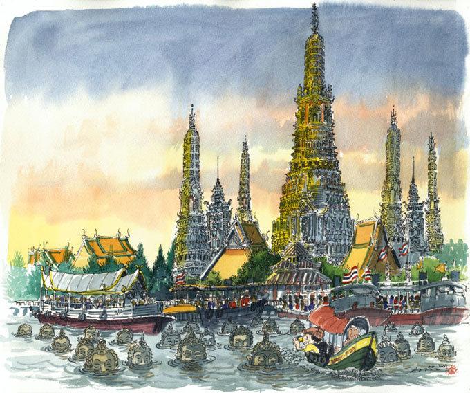 방콕의 신비 '새벽 사원'