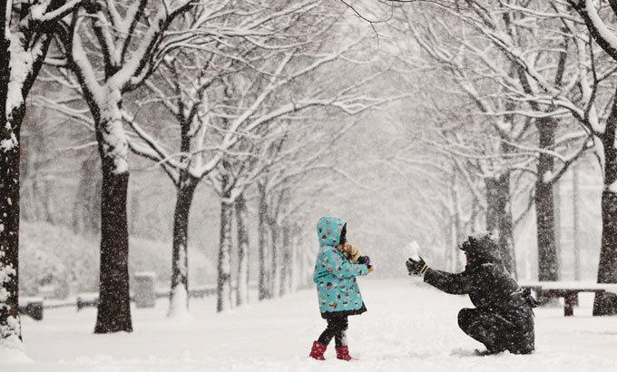 모녀, 雪國으로 외출