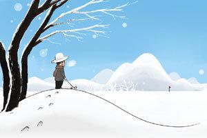 눈밭에 빨간 공, 아주 죽여준다