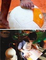 축구공으로 전력 생산 제3세계 아이들에 빛 선물