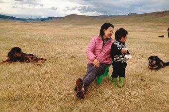 몽골 초원에서 뒷일 해결 재미라니…