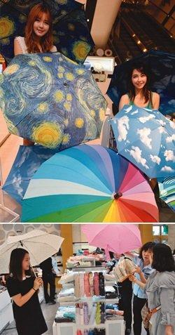 '비와 로맨스' 우산을 펴면 당신도 주인공