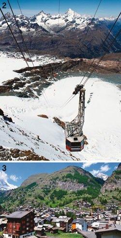 마터호른…융프라우…달력 사진 여기가 배경