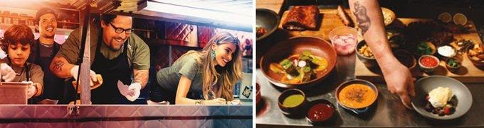 스크린 가득 펼쳐진 요리의 세계