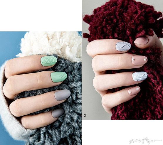 손톱에도 스웨터, 겨울이니까
