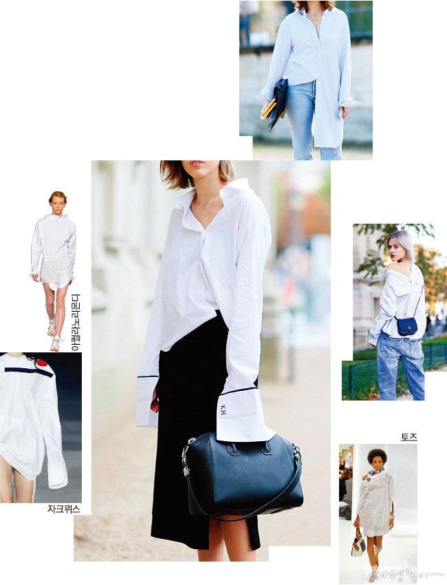 흰 '범생이' 셔츠, 섹시해지다