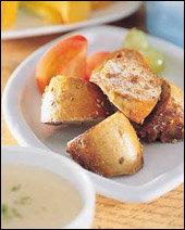 계핏가루 베이글구이와 감자수프