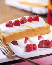 오렌지 산딸기케이크