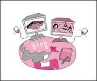 웃음과 재치가 있는 새로운 인터넷 문화 '블로그 사이트'