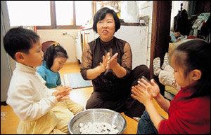 4남매 기르는 국성순씨의 알뜰 육아법