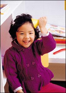 초봄까지 든든한 손뜨개 아이옷