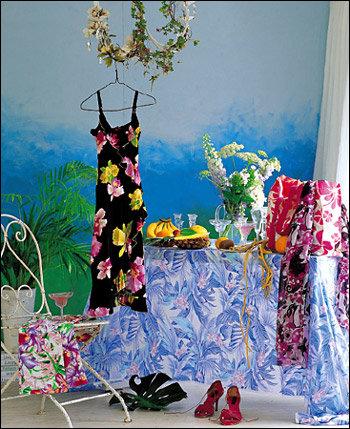 열대의 강렬한 컬러와 패턴 즐기기 Tropical print