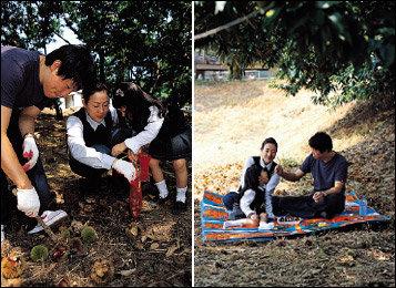 개그맨 이덕재 가족의 밤 농장 나들이