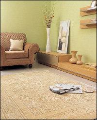 바닥의 찬기운을 막아줄 든든한 카펫