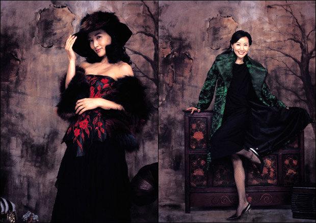 '토지'와 '발레교습소'로 돌아온 도지원의 패션 제안 Luxury Fur