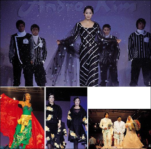 중국 최대 항구도시 칭다오에서 열린 앙드레김 패션쇼