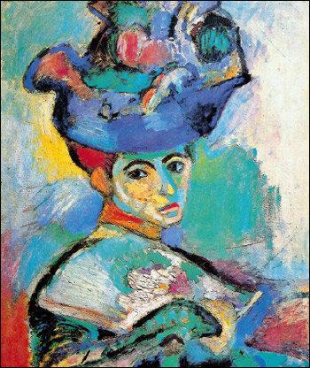 색채의 마술사 마티스의 ' 모자를 쓴 여인'