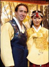 한국 방문한 니콜라스 케이지·앨리스 김 부부