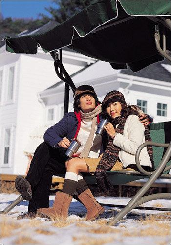 멋진 겨울 여행을 위한 가족 패션 제안 패밀리 아웃도어룩