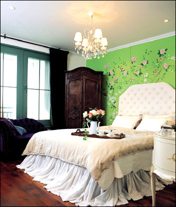 벽화가 독특한 그림 같은 집