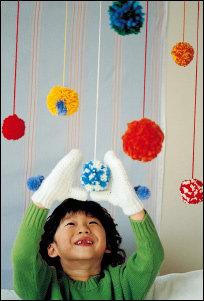 색깔 고운 장난감, 털실 놀이