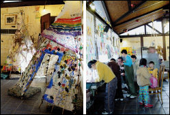 어린이 미술학교, 민속마을 둘러보고 꽃 세상 만나요~ 충남 아산