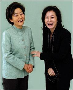 영화 '말아톤'의 '초원이 '엄마와 실제 주인공 '형진이' 엄마 김미숙 &  박미경