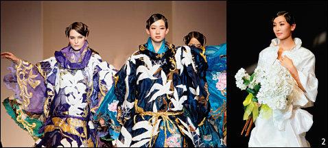 중국 상하이에서 우아한 한국의 멋으로 감동 자아낸 앙드레김 패션쇼
